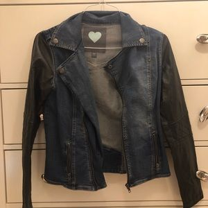Pacsun leather motto jacket